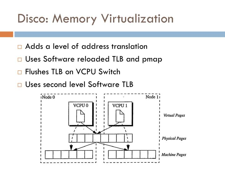 Disco: Memory Virtualization