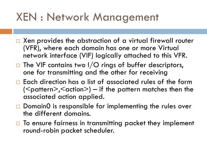 XEN : Network Management