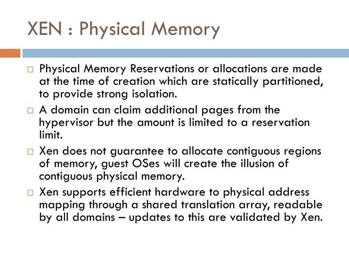 XEN : Physical Memory