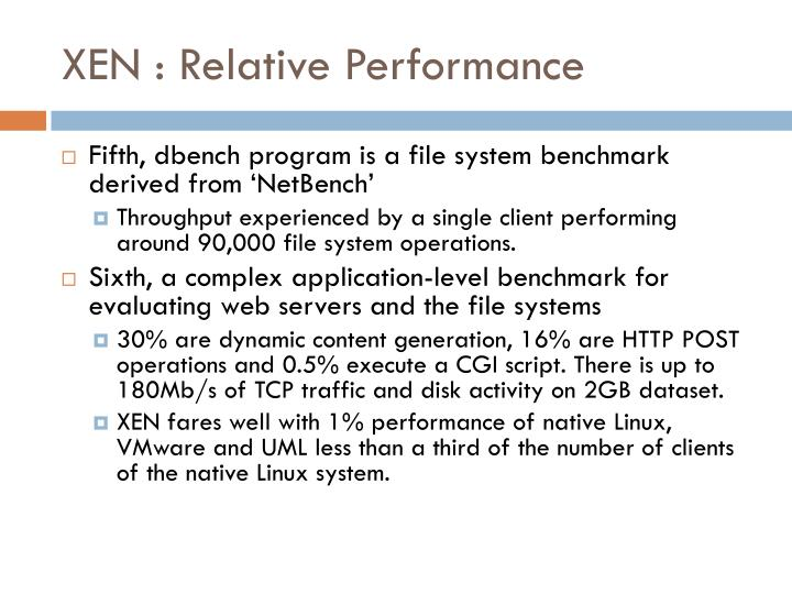 XEN : Relative Performance