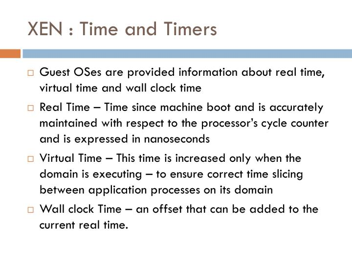 XEN : Time and Timers