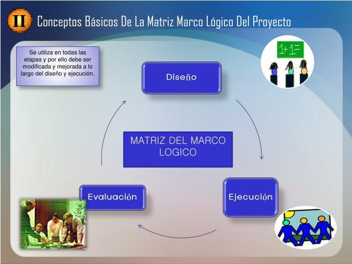 Conceptos Básicos De La Matriz Marco Lógico Del Proyecto