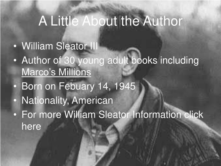 A little about the author