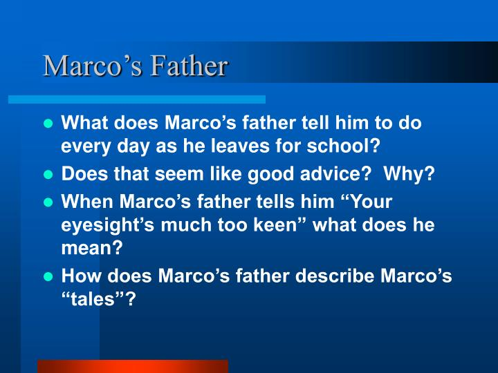 Marco's Father