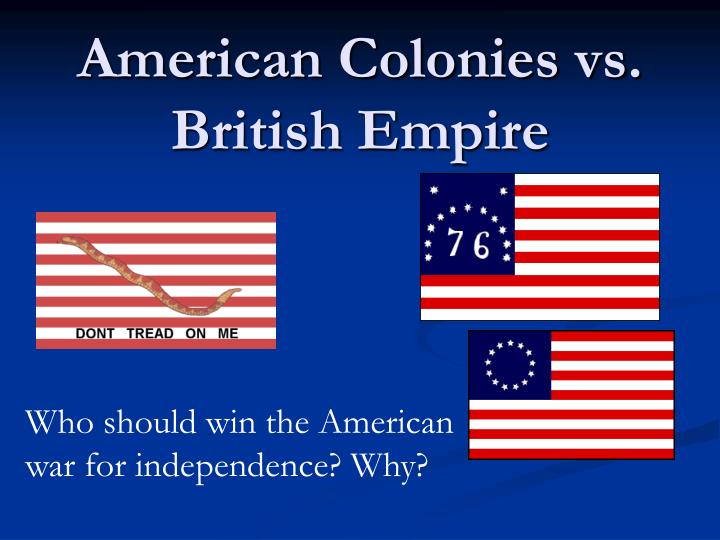 American colonies vs british empire