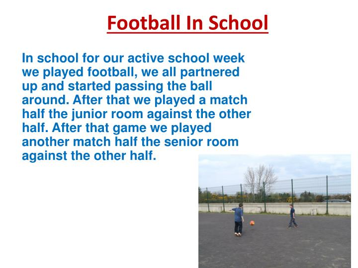 Football In School