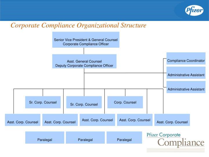 Corporate Compliance Organizational Structure