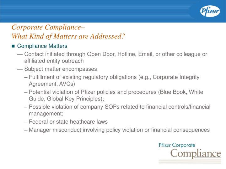 Compliance Matters