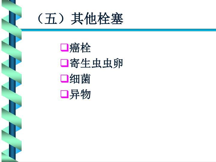 (五)其他栓塞