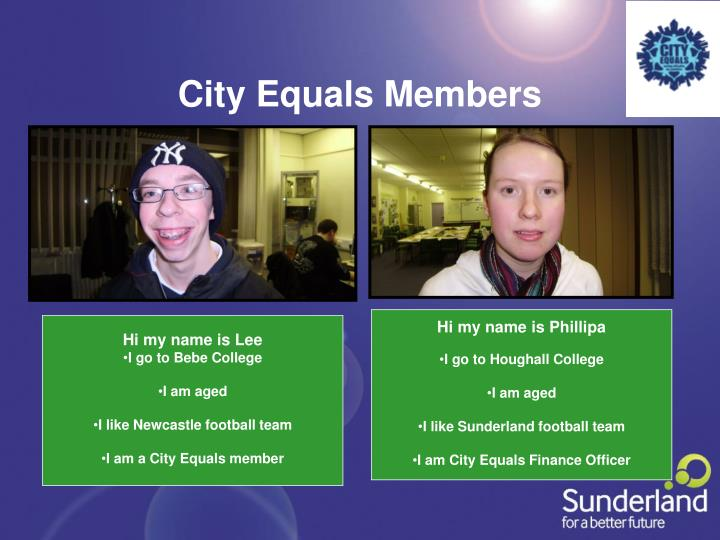 City Equals Members