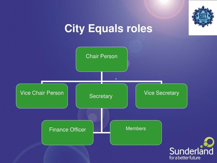 City Equals roles