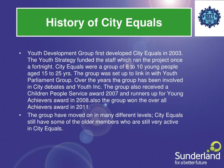 History of City Equals