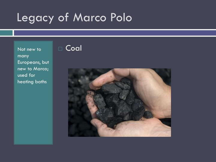 Legacy of Marco Polo