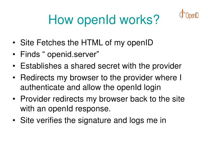 How openId works?