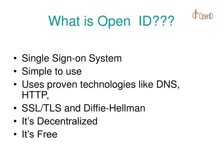 What is Open  ID???