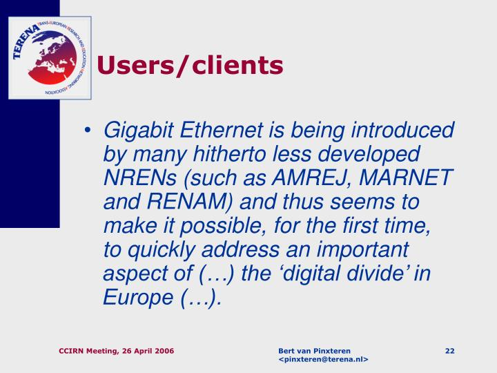 Users/clients