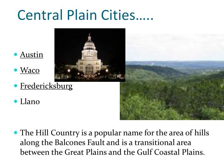 Central Plain Cities…..