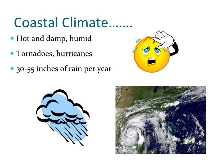 Coastal Climate…….