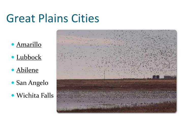 Great Plains Cities