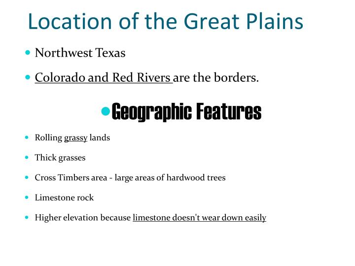 Location of the Great Plains