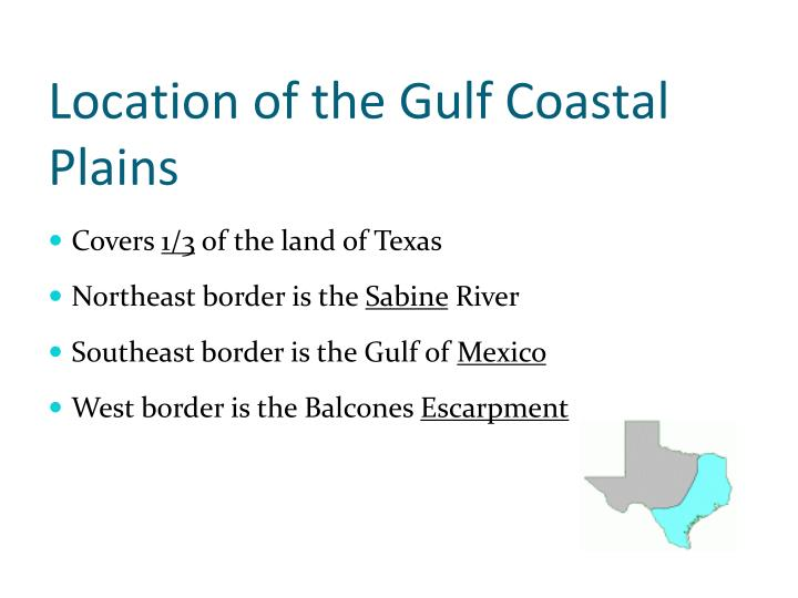 Location of the Gulf Coastal Plains