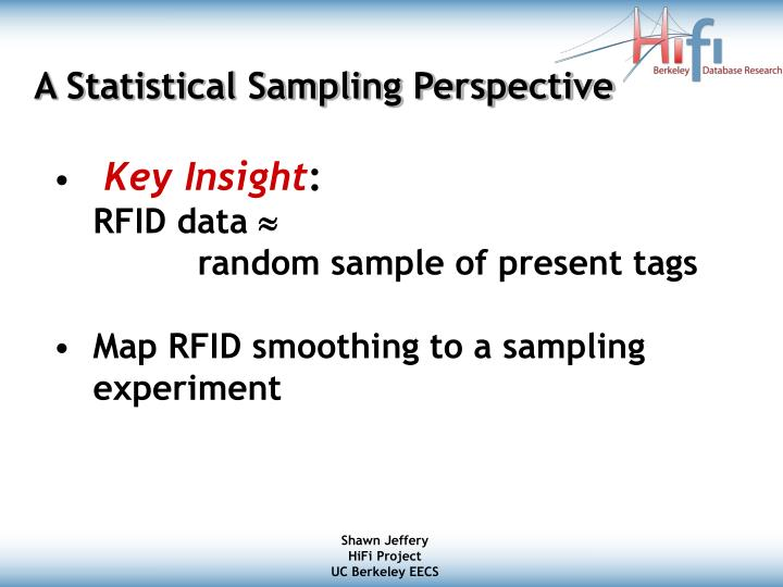A Statistical Sampling Perspective