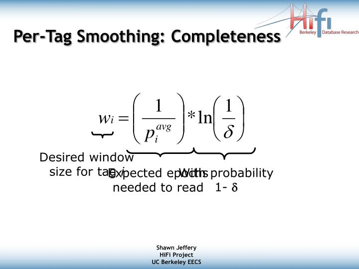 Per-Tag Smoothing: Completeness