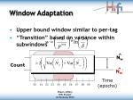 window adaptation