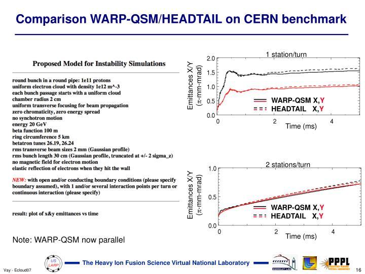 WARP-QSM X,