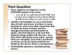 third question
