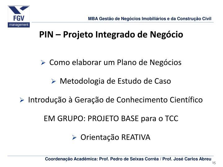 PIN – Projeto Integrado de Negócio