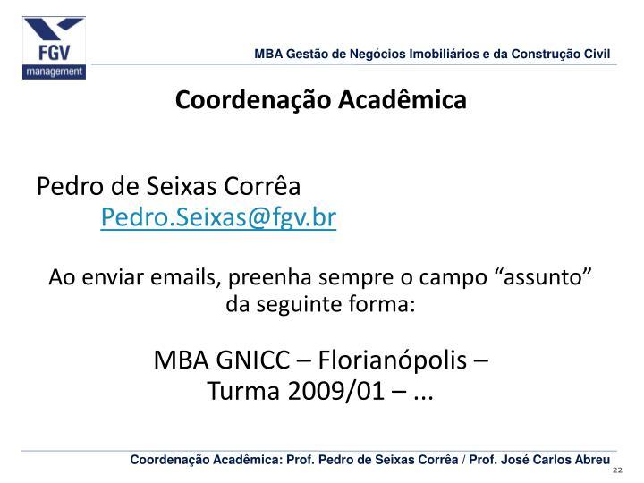 Coordenação Acadêmica