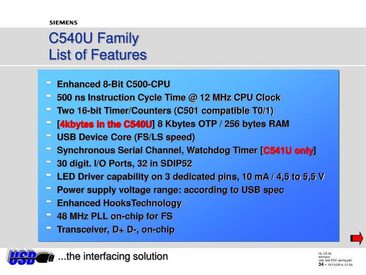 C540U Family