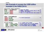 sw example to access the usb buffers included in the sab c541u
