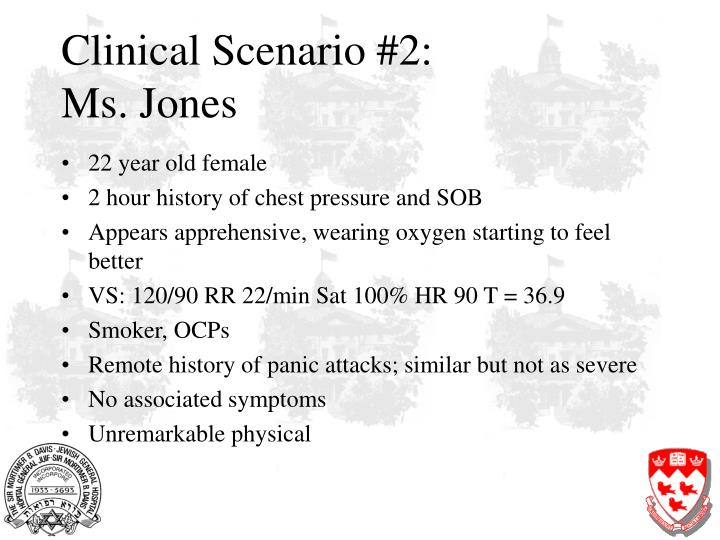 Clinical scenario 2 ms jones