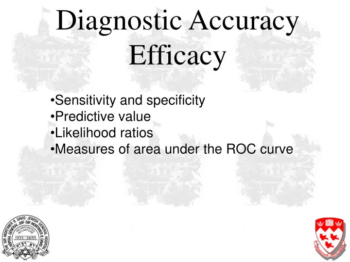 Diagnostic Accuracy Efficacy