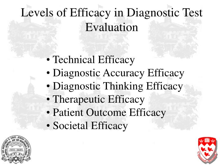 Levels of Efficacy in Diagnostic Test Evaluation