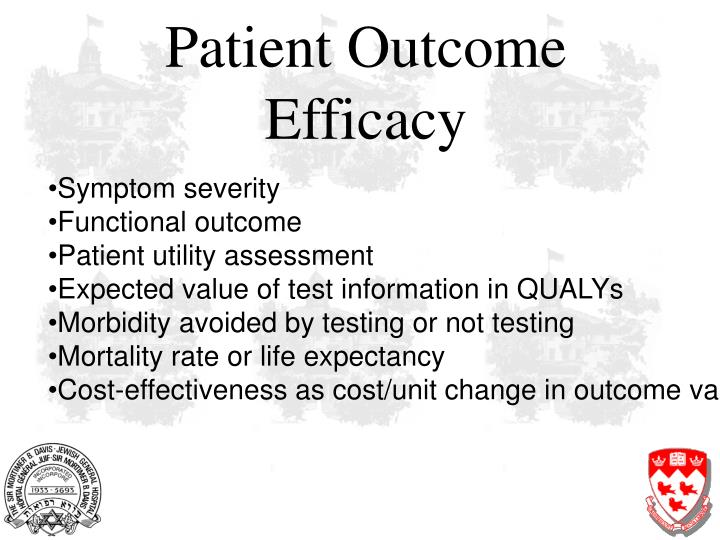 Patient Outcome Efficacy