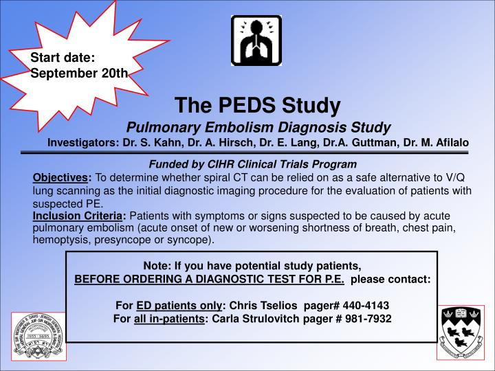The PEDS Study
