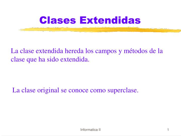 Clases extendidas