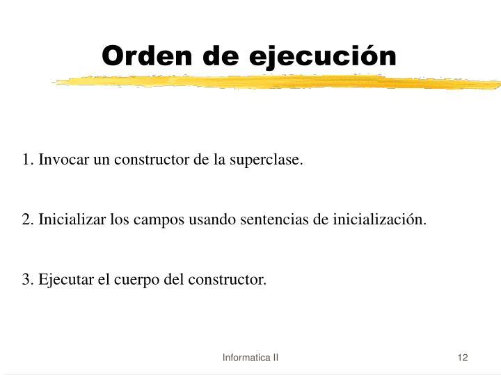 Orden de ejecución