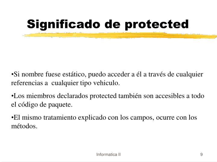 Significado de protected