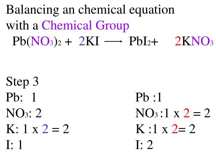 Balancing an chemical equation