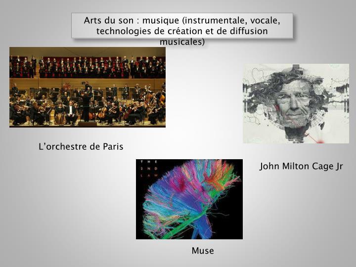 Arts du son : musique (instrumentale,