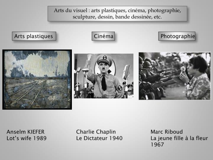 Arts du visuel : arts plastiques, cinéma,