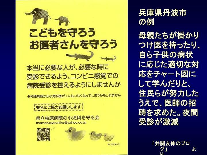兵庫県丹波市       の例