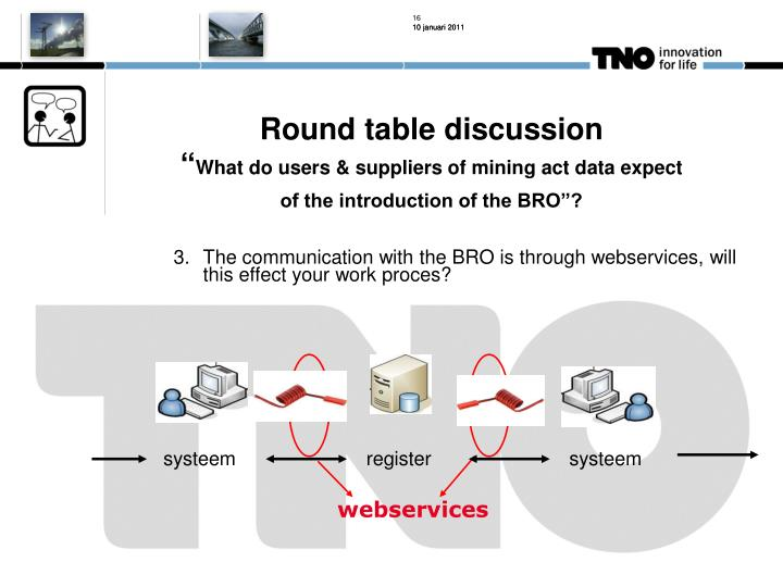Round table discussion