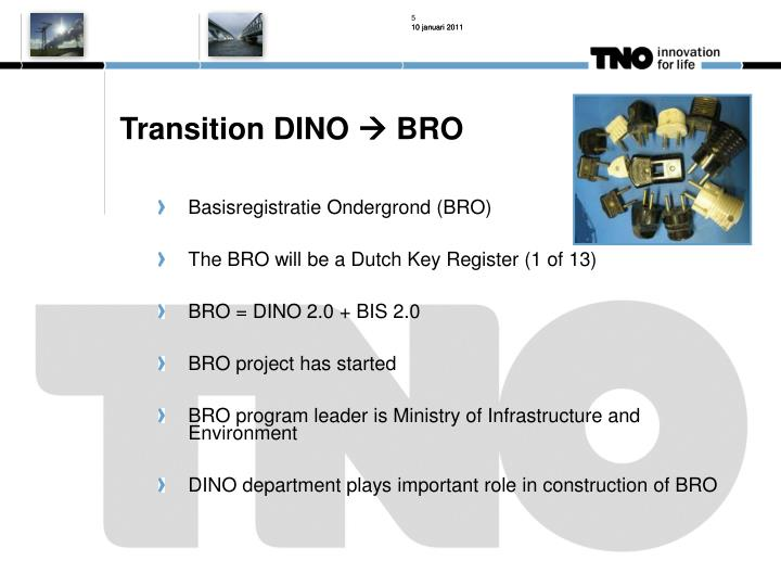 Transition DINO
