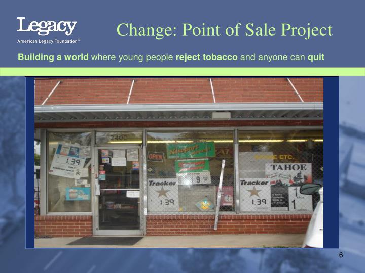 Change: Point of Sale Project