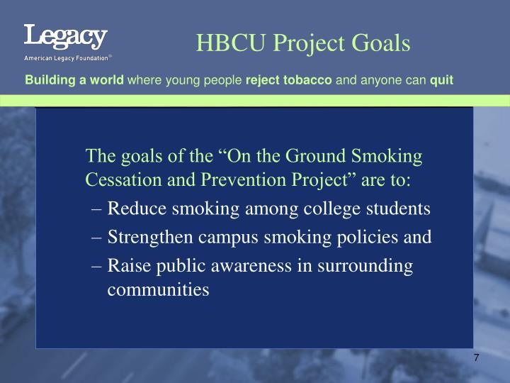 HBCU Project Goals